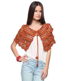 Crochet Knit Shawl - StyleSays