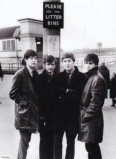 """The haircuts are a good dating tool for Beatle photos. This one looks like a """"63""""."""