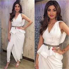 Don't Miss The Indo-Western Styles Truly Inspired From Bollywood Western Dresses For Women, Western Outfits, Indian Dresses, Indian Outfits, Saree Hairstyles, Cocktail Outfit, Shilpa Shetty, Indian Designer Wear, Bollywood Fashion