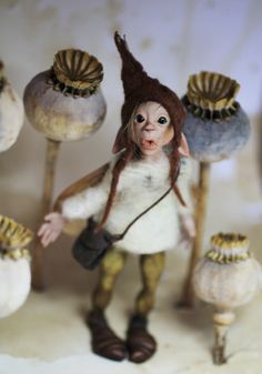 OOAK faerie pixie polymer clay art doll by Feythcrafts on Etsy