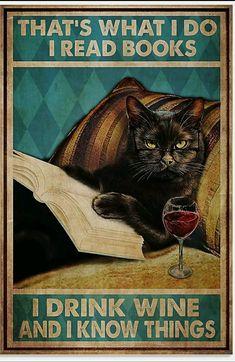 Vintage Tin Signs, Vintage Humor, Vintage Cat, Vintage Metal, Retro Vintage, Cat Posters, Animal Posters, Cat Reading, Cat Signs