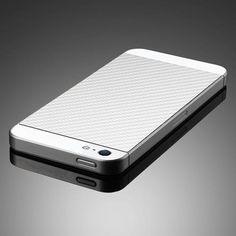 Skin Guard iPhone 5 - textura Carbon alb de la SPIGEN SGP Iphone, Madness