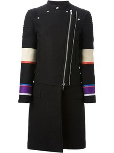 Shop Givenchy biker style coat in Maria STORE from the world's best independent boutiques at farfetch.com. Over 1000 designers from 60 boutiques in one website.
