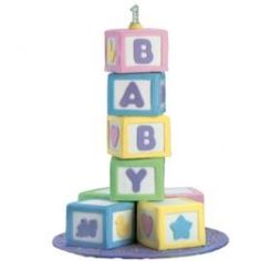 Make mini alphabet block cakes and spell her name with the larger blocks
