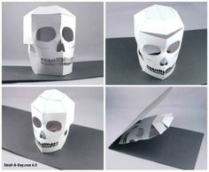 Carl Stevenson in London, England, of Paperfiction, created this laser cut popup skull card.