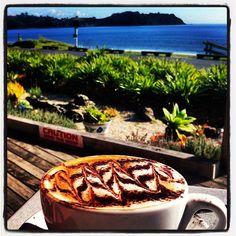 Onetangi Beach Cafe,  mocha moment , Waiheke Island Waiheke Island, Beach Cafe, Auckland, Mocha, Wine, Ethnic Recipes, Instagram, Ideas, Food