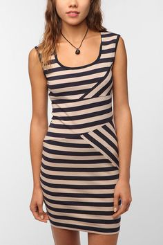 Sparkle & Fade Directional Stripe Knit Dress