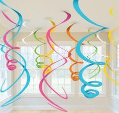 Décorations spirales à suspendre multicolores  et un choix immense de décorations pas chères pour anniversaires, fêtes et occasions spéciales. De la vaisselle jetable à la déco de table, vous trouverez tout pour la fête sur VegaooParty
