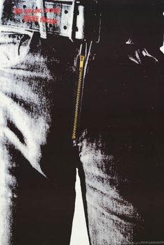 Rolling Stones Sticky Fingers Warhol Album Cover Music Poster 24x36