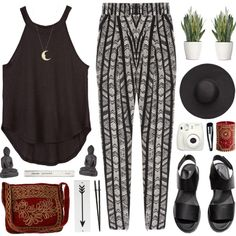 Ethnic by nadiasxox on Polyvore featuring DAY Birger et Mikkelsen, H&M, HOBO, Me&Ro, Witchery, Clips, Rosanna, Pier 1 Imports and PLANT