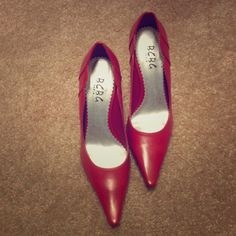 New Bcbg pump in red size 6 Brand new BCBG pump in red size 6. BCBG Shoes