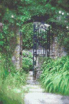 The Garden Gate Counted Cross Stitch Pattern - I have to have this!