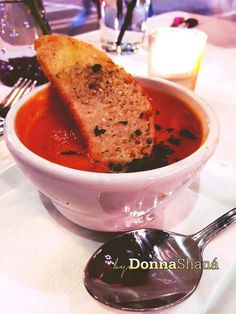 Roasted Tomato and Shrimp Bisque at 10th and Piedmont
