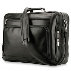 "The Pocha business laptop bag has two roomy compartments that will bring organization to your life and confidence that all your business essentials have their place. A padded 15"" laptop compartment designed with secure straps holds your computer in place rushing through airports or to important meetings"