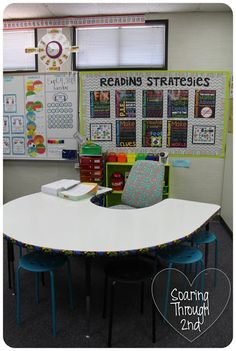 Table covered in dry erase adhesive sheets Classroom Tour (Finally) AKA Picture Dump!