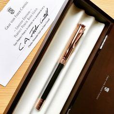 """小日向 京 on Instagram: """"Graf von Faber-Castell Perfect Pencil limited rose gold, with the 9th Count Charles von Faber-Castell's engraving signature on the cap.…"""" Graf Von Faber Castell, Count, Pencil, Rose Gold, Instagram"""