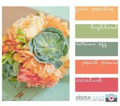 20 Paletas de Cores Para o Verão | A Noiva SUD