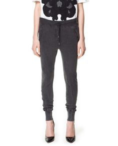 ZARA - WOMAN - SLUB KNIT TROUSERS