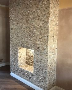 Scabos multicolour travertine feature wall. Natural Stone Cladding, Feature Walls, Stone Veneer, Travertine, Slate, Natural Stones, Interior And Exterior, Tiles, Home Decor