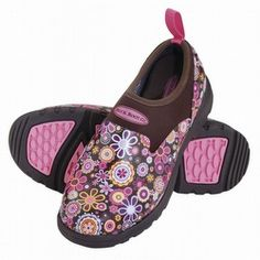 Muck Boots Women's Breezy Low Shoes Brown Floral