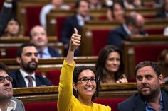 A member of the Pro-independence political party Esquerra Republicana de Catalunya (ERC) votes yes for the Law allowing Catalonia's Government to call on a self-determination referendum from Spain on September 19, 2014 in Barcelona, Catalonia. The Catalonian Parliament votes today to approve the law allowing to call on a self-determination referendum.