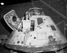 Photo of Miss NASA sitting in Apollo 8 photographed 8/13/1971.
