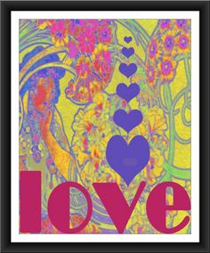 Retro style art print 8 by 10 by forloveofwords on Etsy, $12.00