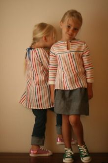 Great style for sewing little kids clothes