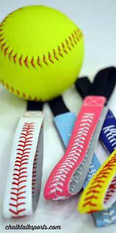 Adorable Softball Stitch Leather Headbands in five awesome colors! ChalkTalkSPORTS.com