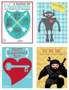 FREE Printable Valentine's Day Cards by Love Paper Paint