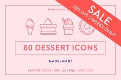 Line Icons – Dessert Business Brochure, Business Card Logo, Cake Drawing, Outline Drawings, Script Type, Creative Sketches, Paint Markers, Pencil Illustration, Line Icon