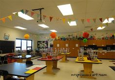 Great ideas for setting up an art classroom!