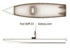 Step-By-Step Boat Plans - Boat plan for 13 solo flats skiff or SUP, fishing kayak - Master Boat Builder with 31 Years of Experience Finally Releases Archive Of 518 Illustrated, Step-By-Step Boat Plans Wooden Canoe, Wooden Boat Building, Boat Building Plans, Boat Plans, Boat Crafts, Water Crafts, Kayaks, Kayak Fishing, Fishing Boats