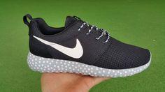 2016 Cheap Nike Roshe Run Woman Black White NK-shoes485