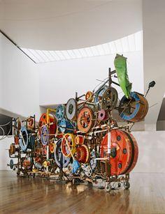 "Jean Tinguely, ""Fatamorgana – Méta-Harmonie IV"", 1985. Installation view at Museum Tinguely, Basel © 2016, ProLitteris, Zurich; photo: Museum Tinguely, Basel, Christian Baur."
