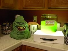 Slimer punch for Halloween/Ghostbuster party Kool-Aid or Hawaiian Punch and Clear soda