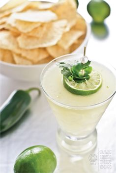 Jalapeño Cilantro Margarita - my kind of cocktail!