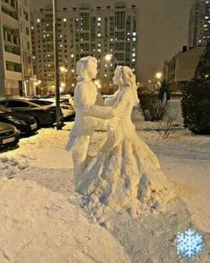Sculpture en neige à St Petersbourg ! Winter Szenen, I Love Winter, Winter Magic, Winter Christmas, Winter White, Ice Art, I Love Snow, Snow Sculptures, Metal Sculptures