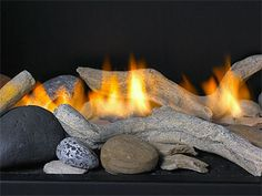 *like 'natural' looking wood and rocks or just rocks - not the sparkly gems or fake looking logs. Think we prefer 'driftwood' or normal looking rocks Modern Direct Vent, Contemporary Electric & Open Front Gas Fireplaces, Stainless Steel Mailboxes Wood Burning Fireplace Inserts, Gas Fireplace Logs, Fireplace Built Ins, Gas Logs, Home Fireplace, Gas Fireplaces, Modern Gas Fireplace Inserts, Fireplace Glass, Electric Fireplaces