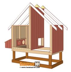 Chicken Coop Plans Free 696580267347885885 - chicken coop plans, install siding to the right, left, and inside walls. Source by modernchickencoop