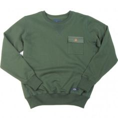 a82a93f39c9 BLEU DE PANAME SWEAT ONE POCKET VERT SAPIN