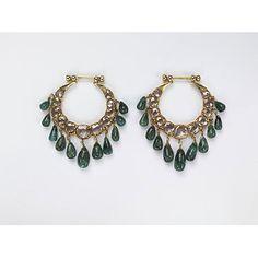 Gold, diamond, emerald earrings.  India ca. 1900.  V&A Museum.
