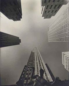 Wendell Macray. Fish-eye View of Rockefeller Center, 1939