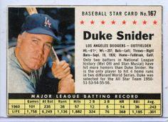 Near-Mint 1961 Duke Snider Post Cereal Baseball Card