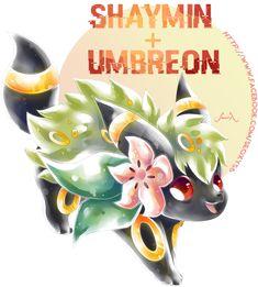 Umbreon X Shaymin by on DeviantArt Pokemon Mix, Pokemon Fusion Art, Mega Pokemon, Pokemon Fan Art, Cool Pokemon, Pokemon Stuff, Pokemon Breeds, Pokemon Memes, Pokemon Cards