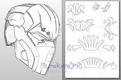Click to close image, click and drag to move. Use arrow keys for next and previous. Cardboard Mask, Cardboard Sculpture, Cosplay Armor, Cosplay Diy, Pepakura Helmet, Red Hood Helmet, Futuristic Helmet, Armadura Cosplay, Paper Art