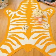 DIY Tiger Felt Rug..