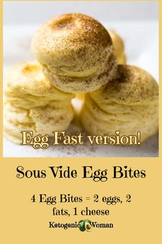 Instant Pot Sous Vide Egg Bites for the Egg Fast! – Ketogenic Woman Instant Pot Sous Vide Egg Bites for the Egg Fast are soft and velvety little cheesecakes that you can make at home. Eggfast Recipes, Low Carb Recipes, Real Food Recipes, Instant Pot Sous Vide, Crockpot, Egg And Grapefruit Diet, Slim Down Fast, Keto Egg Fast, Keto Fat