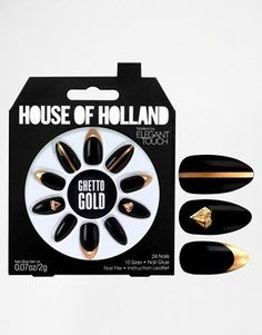 Pin for Later: 28 Cadeaux Pour les Fans de Nail Art  Eylure House Of Holland Nails By Elegant Touch - Ghetto Gold (12€)