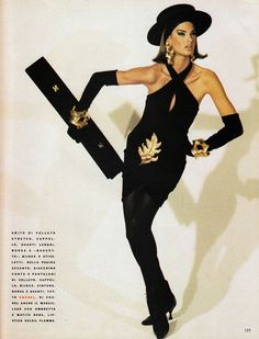Vogue Italia July/August 1990 Linda Evangelista by Steven Meisel and Carlyne Cerf de Dudzeele